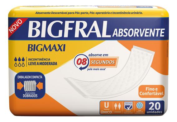 Absorvente Geriátrico Bigfral - 20 Unidades