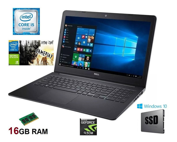 Notebook Dell Gamer I5 16gb Ssd 512gb Tela De 15.6 Garantia