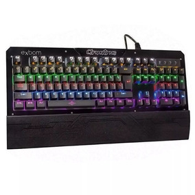 Teclado Gamer Mecânico Chroma Swtch Blue Usb Pc Abnt2 Bk-gx1