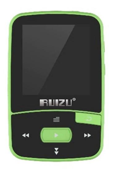 Mp3 Player Ruizu X50 8gb Mp4 Musica Vídeo Tela Fm