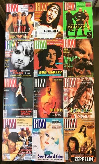 Revista Bizz 1994 (ano Completo 12 Edições) Perfeito Estado