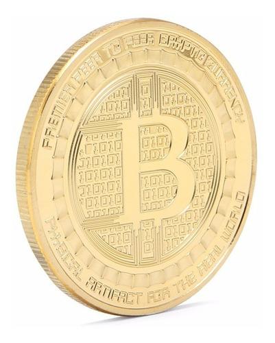 Imagen 1 de 2 de Moneda Simbolica Bitcoins - Gold