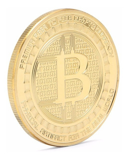 Moneda Simbolica Bitcoins - Gold