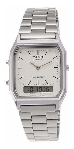 Relógio Casio Aq-230a-7dmq Prata Original