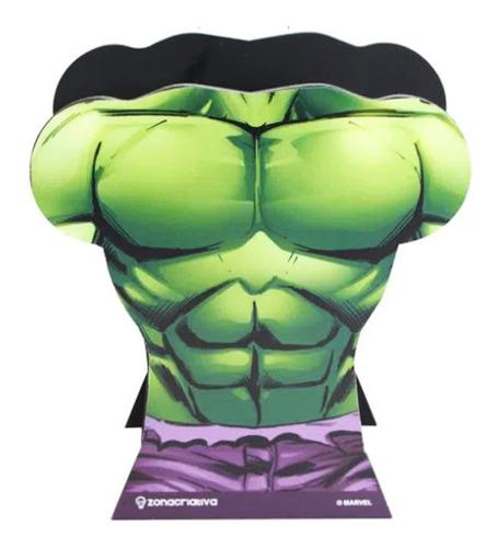 Porta Lapis Canetas Hulk Busto Marvel Geek Oficial