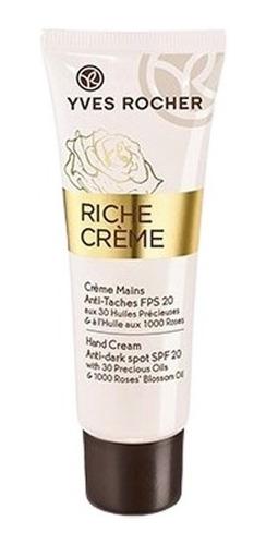 Crema De Manos Anti-manchas Fps20 Yves Rocher Riche Creme