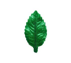 Folhas Artificiais Artesanato Rosa N° 1 Cetim Verde 60unid