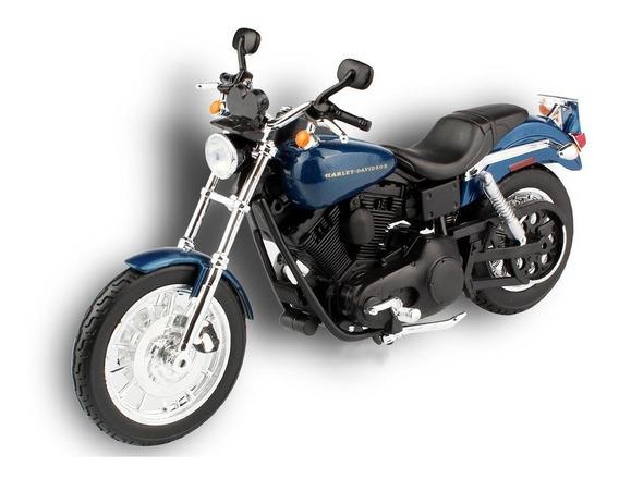 Miniatura Moto Harley-davidson 2004 Dyna Super 1:12 Maisto