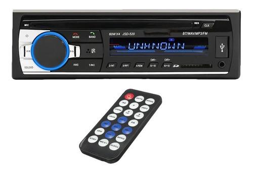 Imagen 1 de 10 de Stereo Bluetooth Auto Car Estereo Usb Mp3 Fm Jsd-520 - Modelo Nuevo!