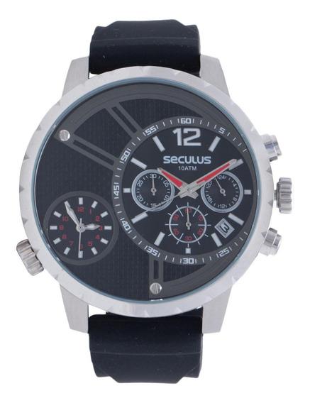 Relógio Seculus Masculino 20271g0svnu1 Prata