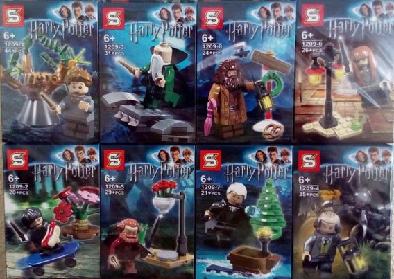 Bonecos Harry Potter Ron Weasley Hermione Blocos Lego Com 8
