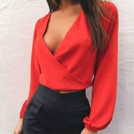 Camisa Con Escote Y Espalda Descubierta