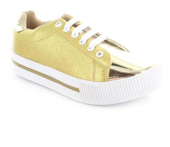 Tenis Para Mujer Emilio Bazan 1307-050529 Color Oro