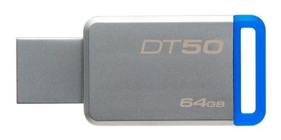 Pen Drive Dt50 64gb Kingston - Azul