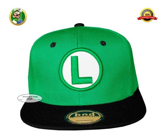 1 Gorra Luigi Gorra Luigi Mario Bros Gamers Cosplay Moda