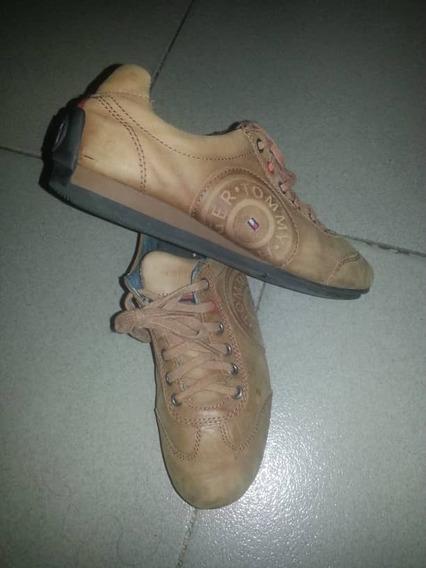 Zapatos Deportivos Tommy Hilfiger Original 100% Cuero Unisex