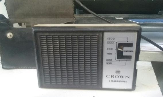 Radio De Bolsa Antigo Crown No Estado