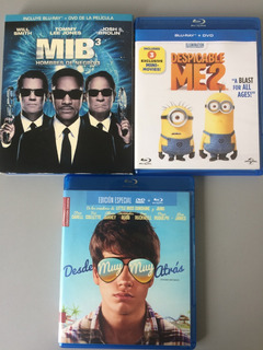 Lote 3 Peliculas Blu-ray + Dvd Combo
