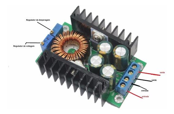 Regulador Voltagem Dc 12a Fonte Ajustavel 5v A 24v Step Down
