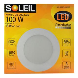 Panel De Luz Soleil Redondo 100 W Dimerizable Rpl 18 W