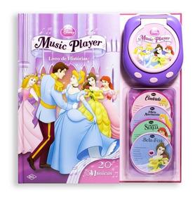 Livro Music Player - Livro De Histórias - Princesas Disney