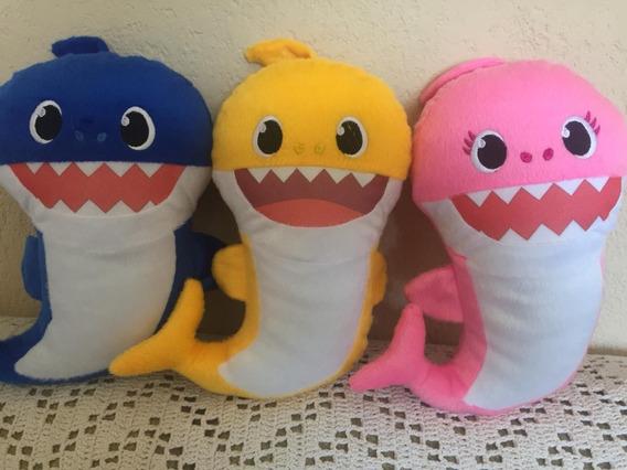 Kit 3 Baby Shark De Pelúcia,sem Musical