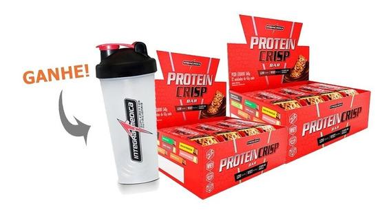 Kit 2cx Barra Protein Crisp 12un 45g Integralmedica + Coq.