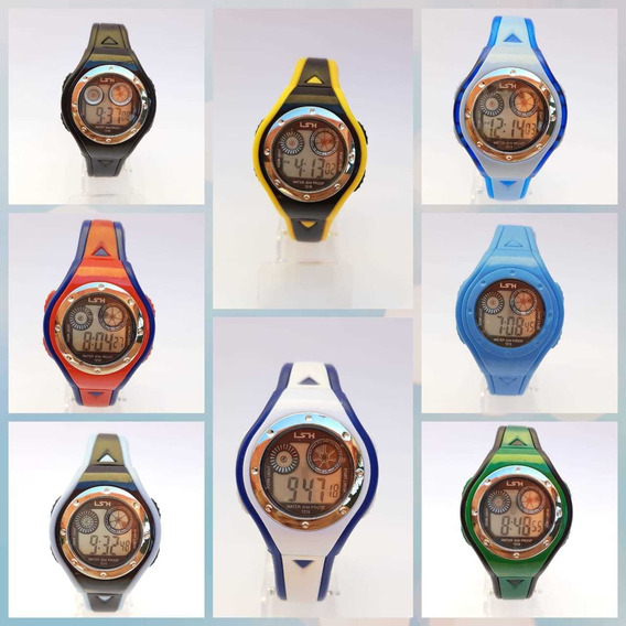 Kit 5 Relógio Digital Masculino E Feminino Criança Infantil