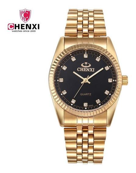 Relógio Chenxi 004 Black, Aço Inox À Prova D