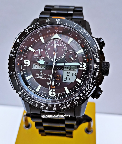 Incrível Citizen Skyhawk Jy8075-51e Semi Novo All Black Top