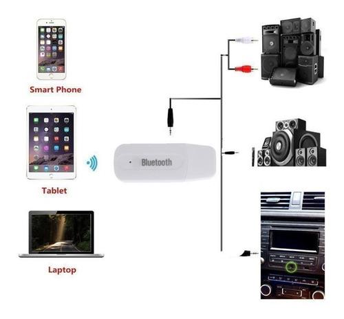 Receptor Música Audio Bluetooth Blanco Puerto Usb Pc 3.5mm