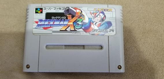 Mega Man X 3 Original Japonês Nintendo Super Famicom.