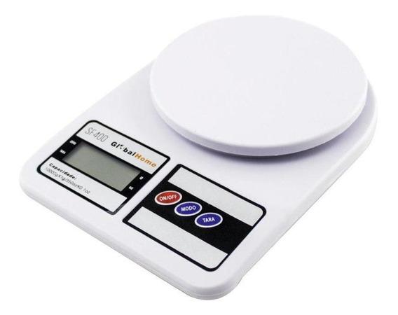 Balança Digital De Cozinha Até 10kg A Pilha Globalmix-sf400
