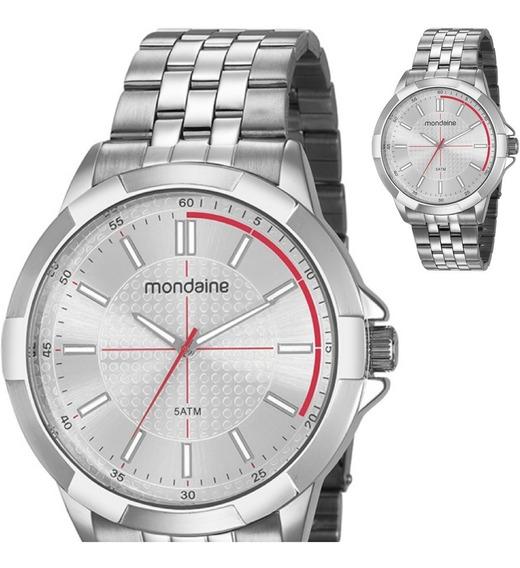 Relógio Masculino Mondaine Prateado Grande Original