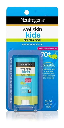 Protetor Solar Neutrogena Wet Skin Kids Stick Spf 70 Bastão