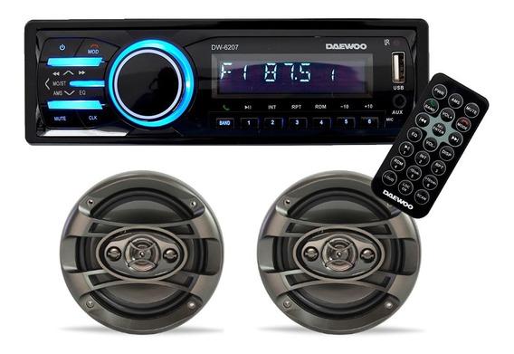 Kit Auto Estereo Bluetooth Bocinas 6.5 Control 300w Daewoo C