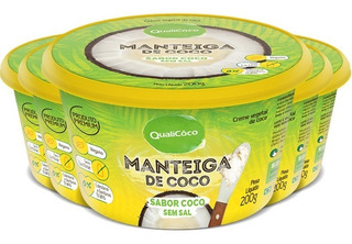 Kit 5 Manteiga De Coco 200g - Qualicôco - Natural