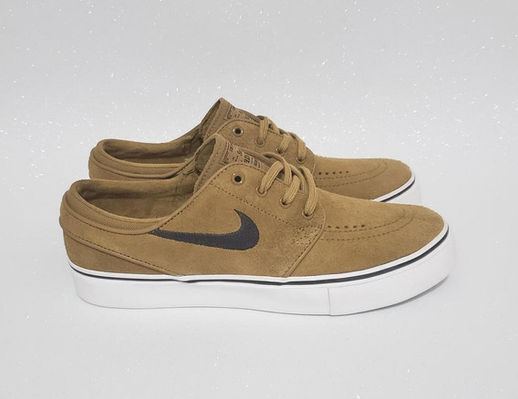 Nike Air Zoom Stefan Janoski Tenis Skate Board Marrom