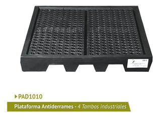 Plataforma Antiderrames Para 4 Tambos