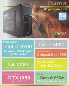 Computador Intel Core I7 7700 8gb Gtx1060 7ª Geração Puma