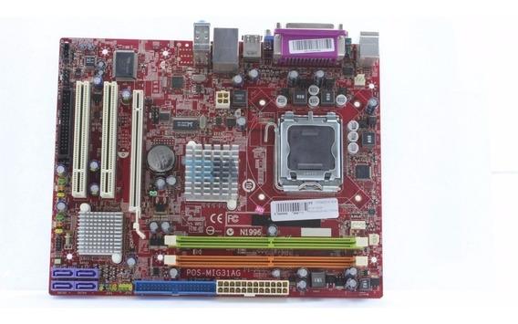 Placa Mãe Msi-mig31ag Pentium Dual Core Ddr2 Lga 775