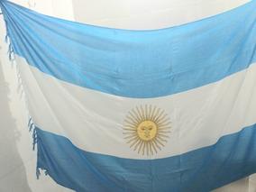 Saída De Praia Canga Bandeira País Argentina Toalha Verão