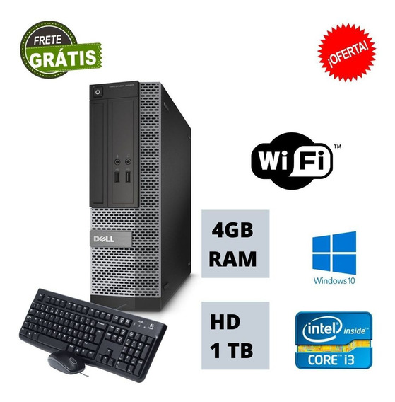Pc Dell Nova Core I3 4gb Hd 2 Tb Win 10 Aproveite!