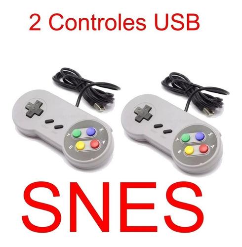 Imagem 1 de 4 de 2 Controle Super Nintendo Snes Usb P/ Pc Jogos Raspberry Mac