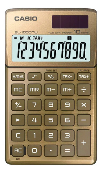 Calculadora De Bolsillo Casio Sl-1000tw 10 Dig Pila/solar