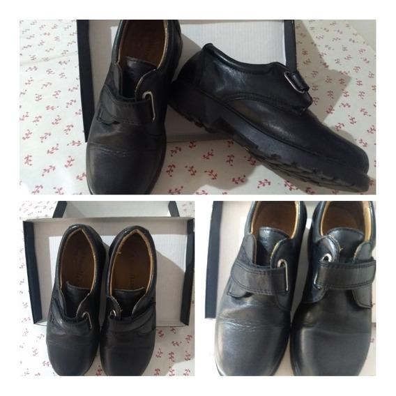 Zapato Colegial Negro Woodland Usado Talle 34