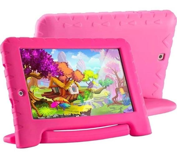 Tablet Infantil Tela 7 Android 7.0 Quadcore 2 Cameras Rosa
