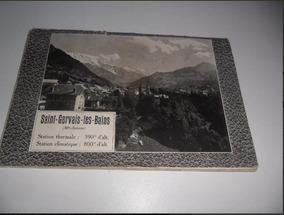 Livro Antigo De 1920 Hotéis De Saint-gervais-frança