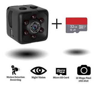 Camara Mini Espia Oculta Hd1080 Dia Noche+ Microsd 32gb