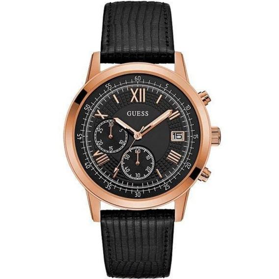 Relógio Guess Masculino Couro Preto 92680gpgdrc6 Social